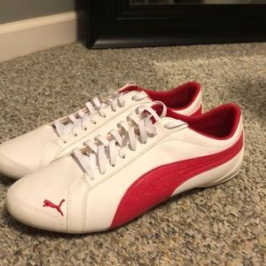 White & Pink Puma Tennis Shoes - NEVER WORN